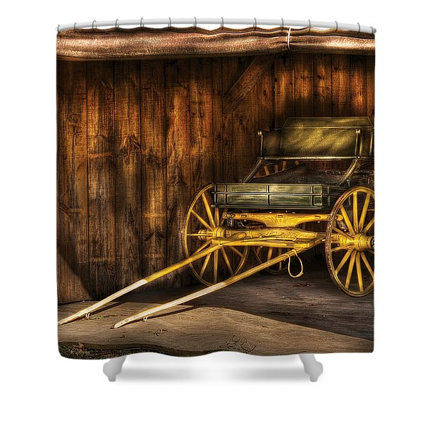 Car - Wagon - The Old Wagon Shower Curtain by Mike Savad