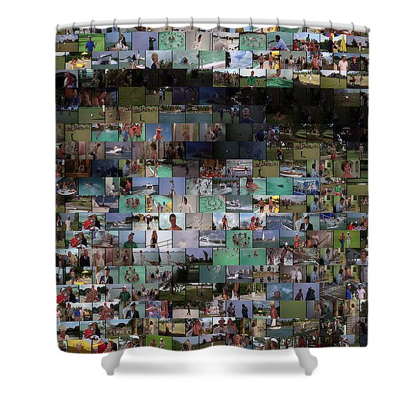 Carl Caddyshack Mosaic Shower Curtain by Paul Van Scott