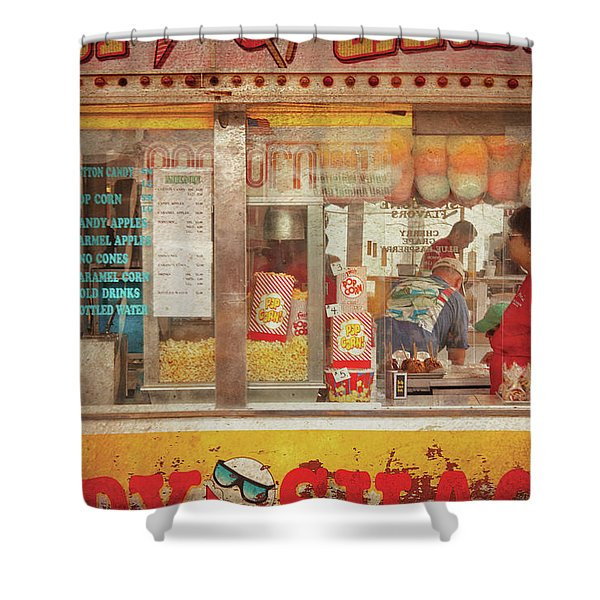 Carnival - The Candy Shack Shower Curtain by Mike Savad