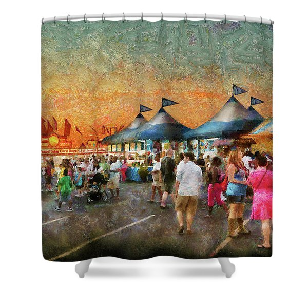 Carnival - Who wants Gyros Shower Curtain by Mike Savad