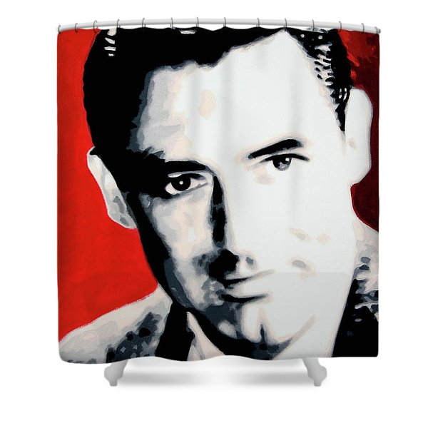 Cary Grant Shower Curtain by Luis Ludzska