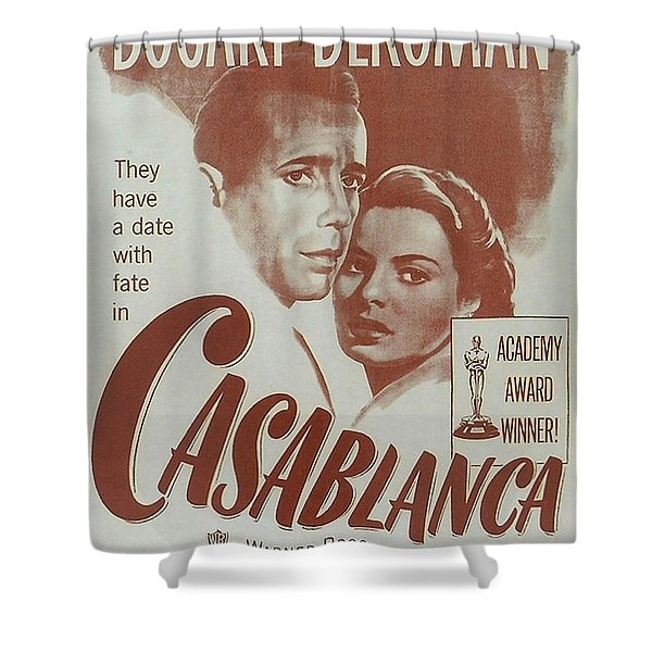 Casablanca Shower Curtain by Nomad Art And  Design