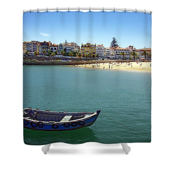 Cascais Shower Curtain by Carlos Caetano