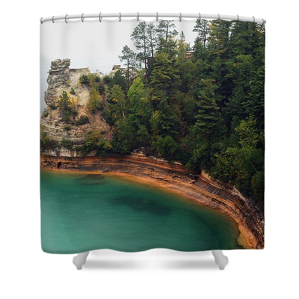 Castle Rock Shower Curtain by Michael Peychich
