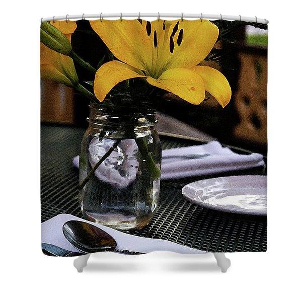 Casual Affair Shower Curtain by Linda Knorr Shafer