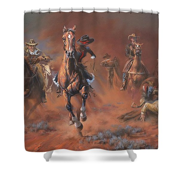 Catch Me If You Can Shower Curtain by Mia DeLode