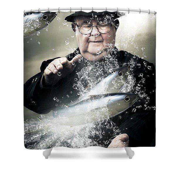 Catch Of The Day Shower Curtain by Ryan Jorgensen