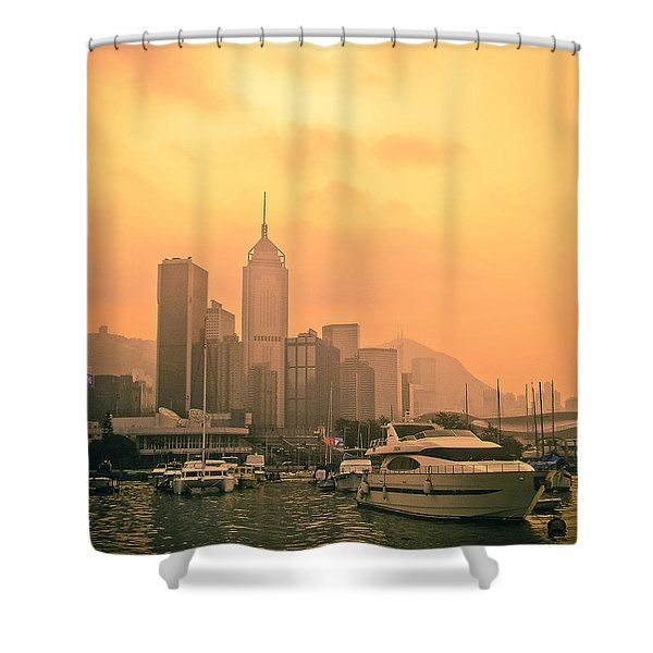 Causeway Bay At Sunset Shower Curtain by Loriental Photography