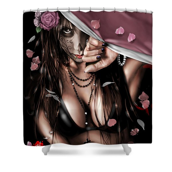 Cemetery  Gates Shower Curtain by Pete Tapang