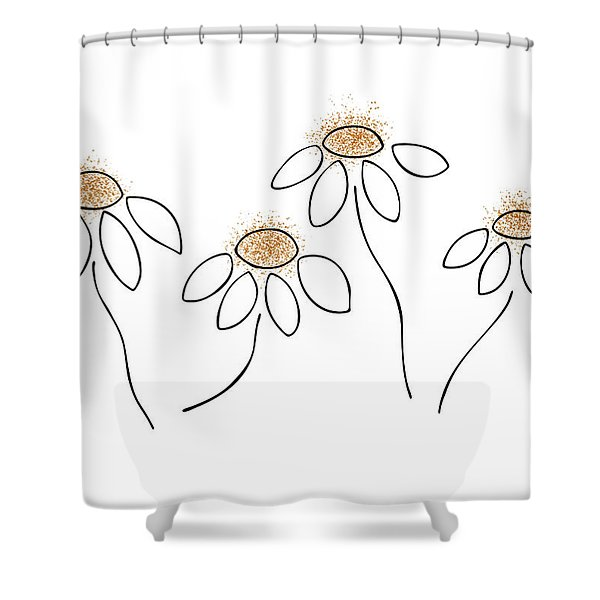Shower Curtains - Chamomile Shower Curtain by Frank Tschakert