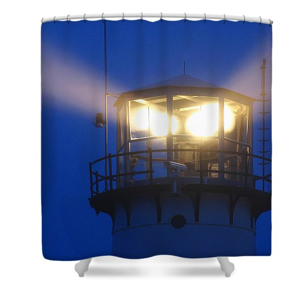 Chatham Light Shower Curtain by Juergen Roth