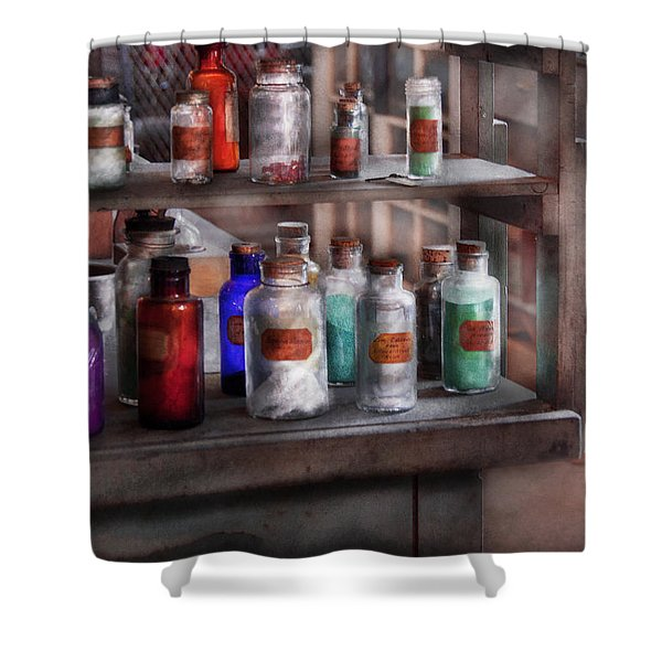 Chemistry - Ready To Experiment Shower Curtain by Mike Savad