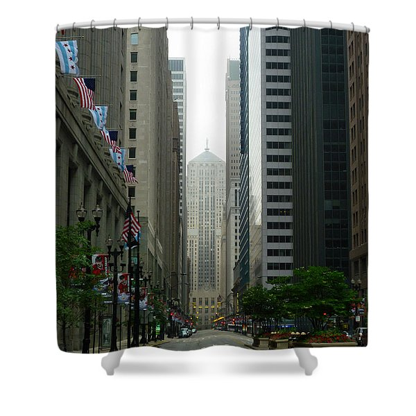 Chicago Architecture - 17 Shower Curtain by Ely Arsha