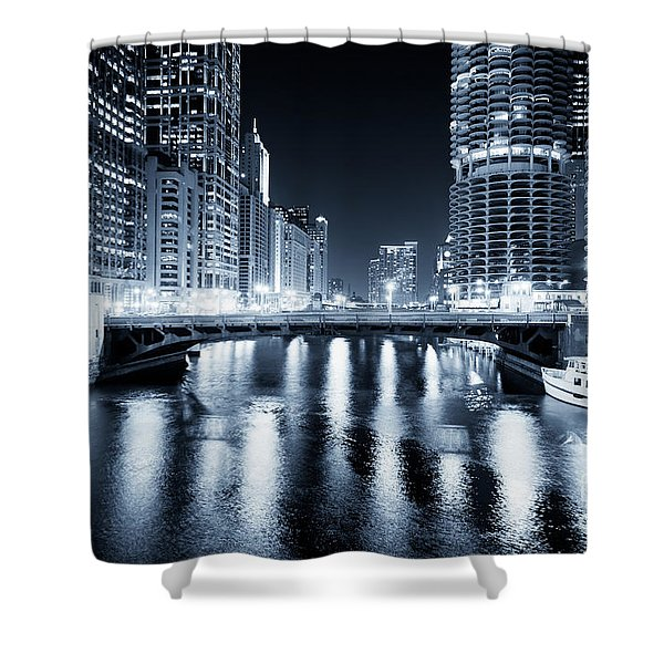 Chicago River At State Street Bridge Shower Curtain by Paul Velgos