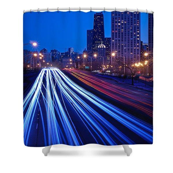 Chicagos Lake Shore Drive Shower Curtain by Steve Gadomski