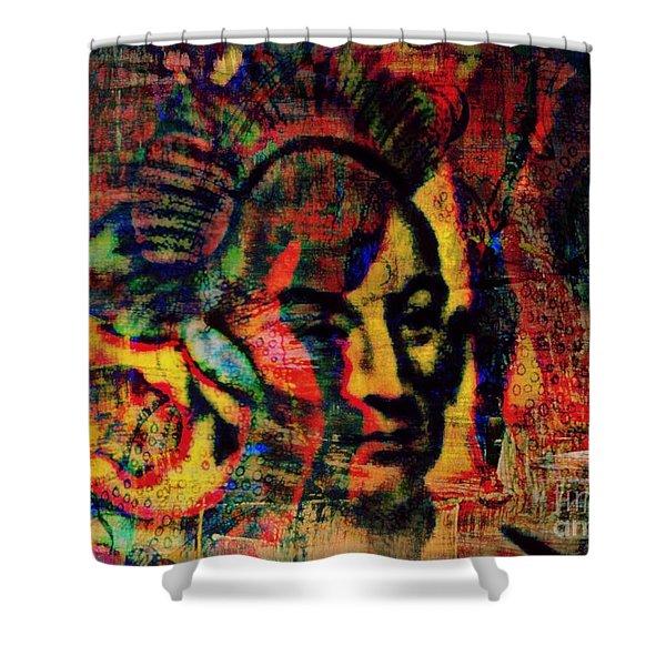Chief Black Hawk Shower Curtain by WBK