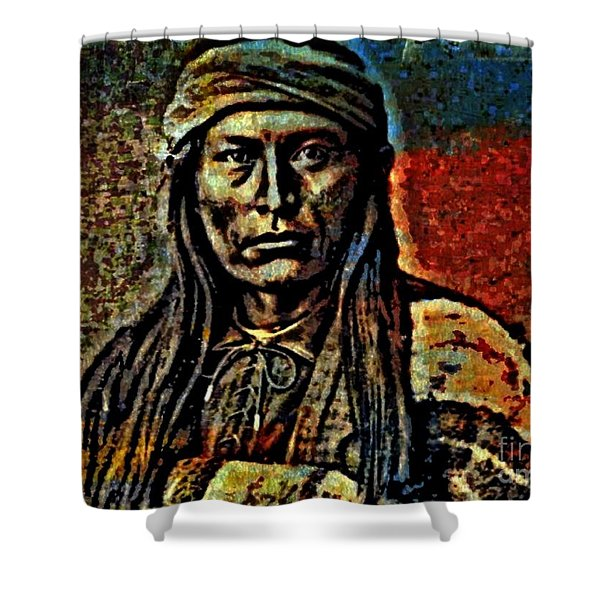 Chief Cochise Shower Curtain by WBK