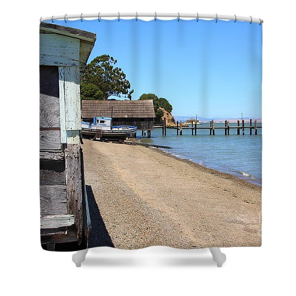 China Camp In Marin Ca Shower Curtain by Wingsdomain Art and Photography
