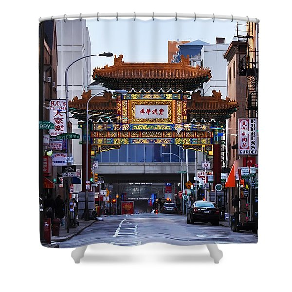 Chinatown - Philadelphia Shower Curtain by Bill Cannon
