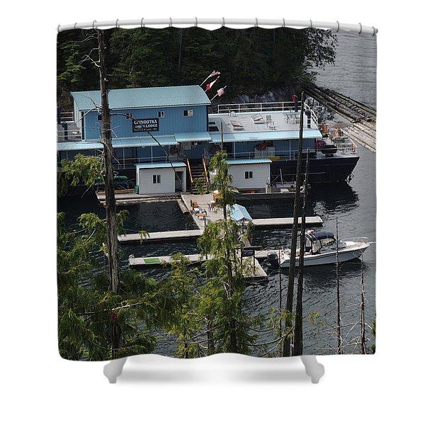 Chinootka Lodge Close-up Shower Curtain by Nootka Sound