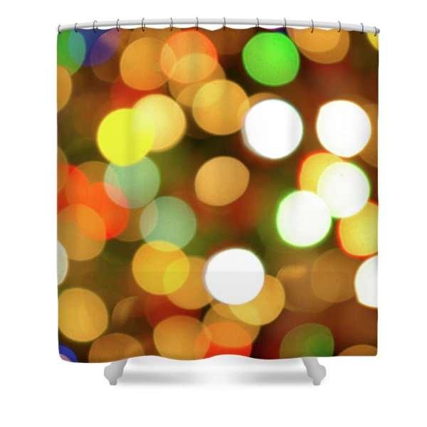 Christmas Lights Shower Curtain by Carlos Caetano