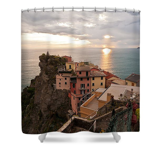 Cinque Terre Tranquility Shower Curtain by Mike Reid