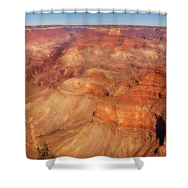 City - Arizona - Grand Canyon - The Great Grand View Shower Curtain by Mike Savad