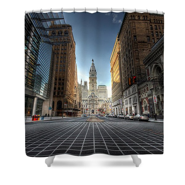City Hall Shower Curtain by Lori Deiter
