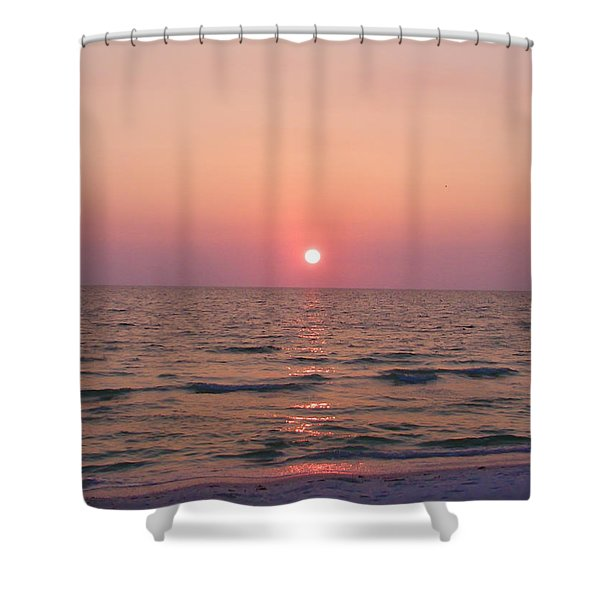 Clearwater Sunset Shower Curtain by Bill Cannon