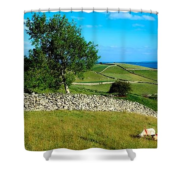 Co Galway, Connemara, Lough Corrib Shower Curtain by The Irish Image Collection