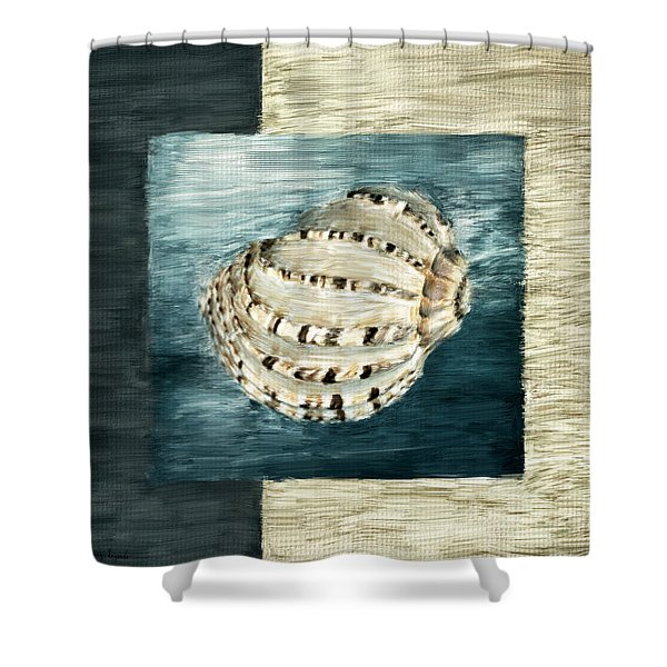 Coastal Jewel Shower Curtain by Lourry Legarde