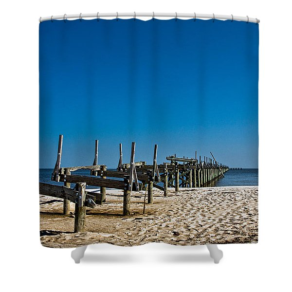 Coastal Remains Shower Curtain by Christopher Holmes