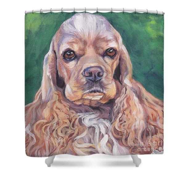 Cocker Spaniel Shower Curtain by Lee Ann Shepard