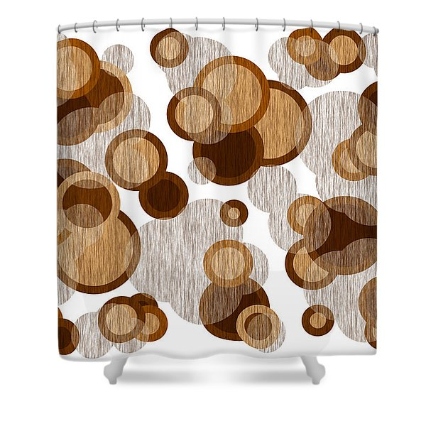 Shower Curtains - Coffee Colored Circles Shower Curtain by Frank Tschakert