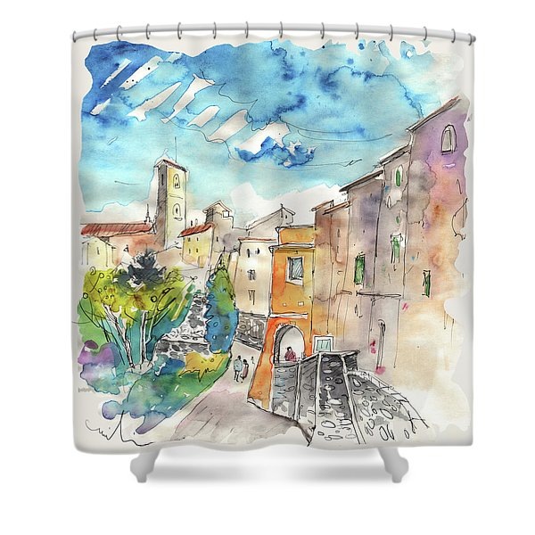 Colle D Val D Elsa In Italy 02 Shower Curtain by Miki De Goodaboom