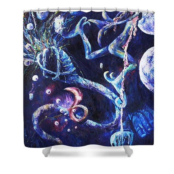 Color Creation Myth Shower Curtain by Shelley Irish
