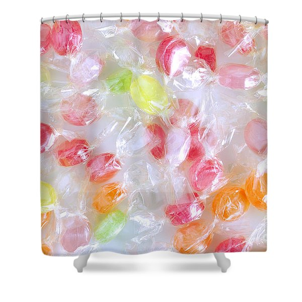 Colorful Candies Shower Curtain by Carlos Caetano