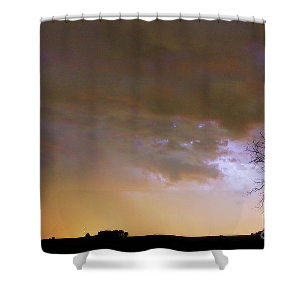 Colorful Colorado Cloud To Cloud Lightning Striking Shower Curtain by James BO  Insogna