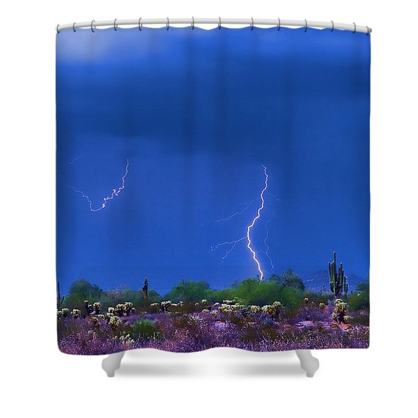 Colorful Desert Storm Shower Curtain by James BO  Insogna