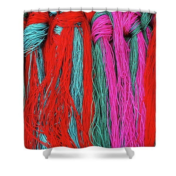 Colors of Tibet Shower Curtain by Michele Burgess