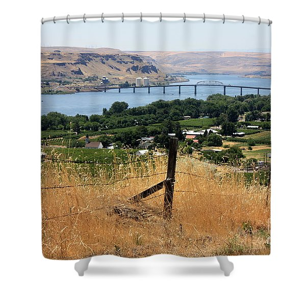 Columbia River - Biggs and Maryhill State Park Shower Curtain by Carol Groenen
