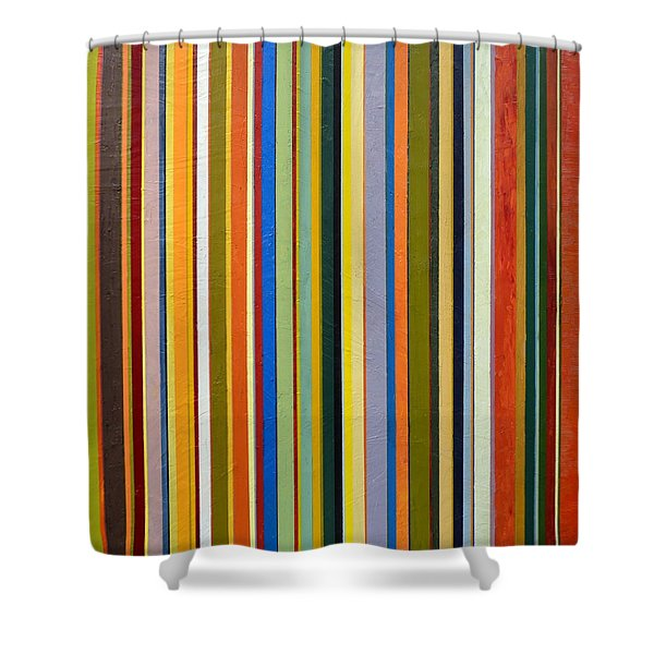 Comfortable Stripes Shower Curtain by Michelle Calkins
