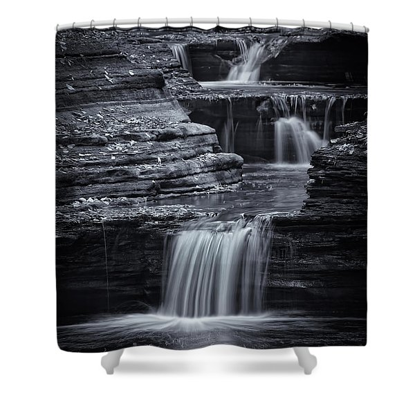Coming Down Gently Shower Curtain by Evelina Kremsdorf