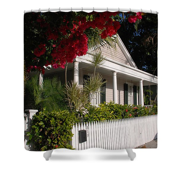 Conch House in Key West Shower Curtain by Susanne Van Hulst