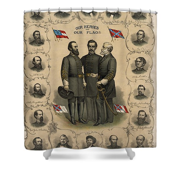 Confederate Generals of The Civil War Shower Curtain by War Is Hell Store