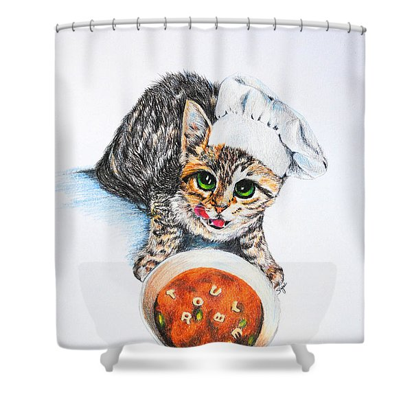 Cookin' Up Trouble Shower Curtain by Jai Johnson