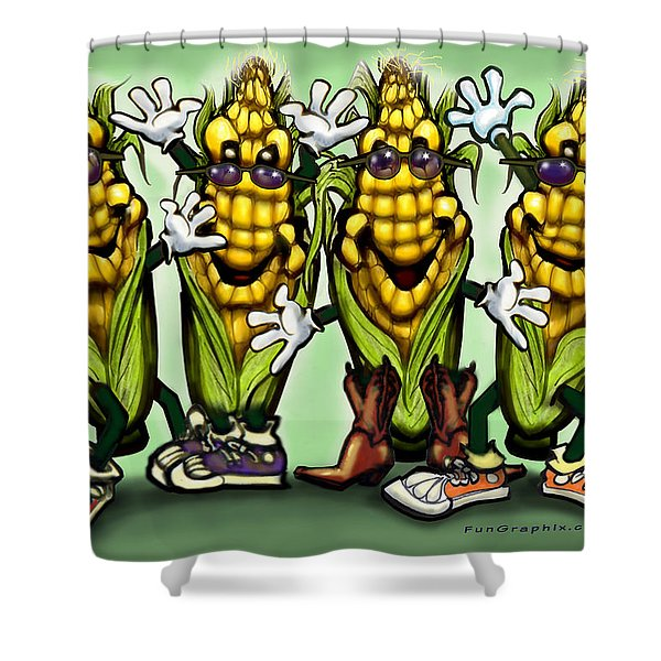Corn Party Shower Curtain by Kevin Middleton