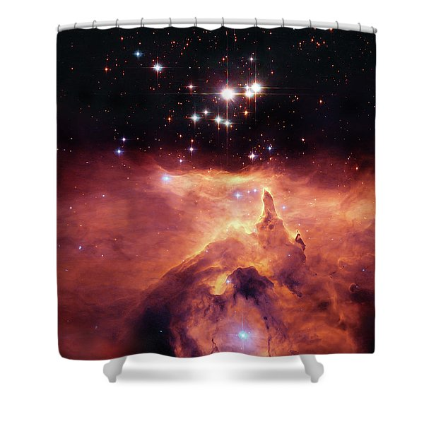 Cosmic Cave Shower Curtain by The  Vault - Jennifer Rondinelli Reilly