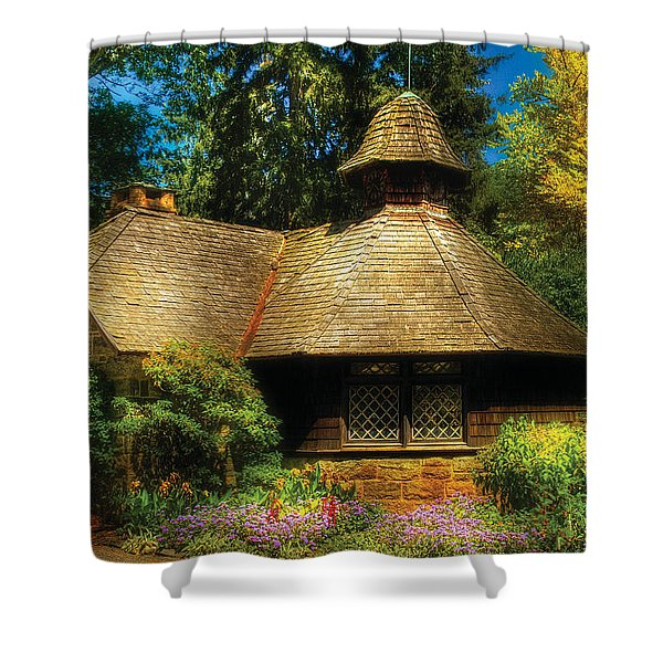 Cottage - A Little Dutch House Shower Curtain by Mike Savad