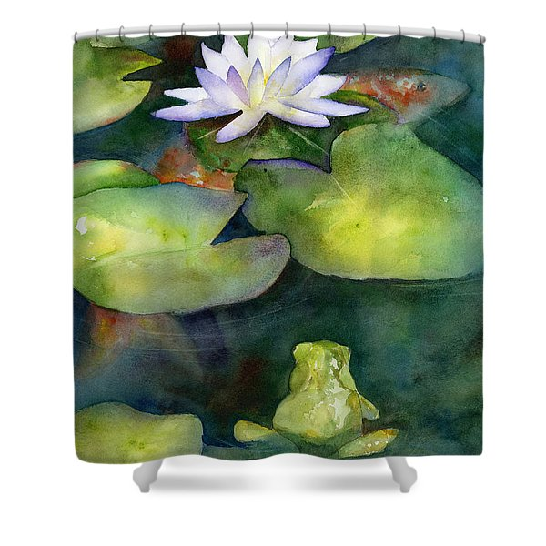 Coy Koi Shower Curtain by Amy Kirkpatrick